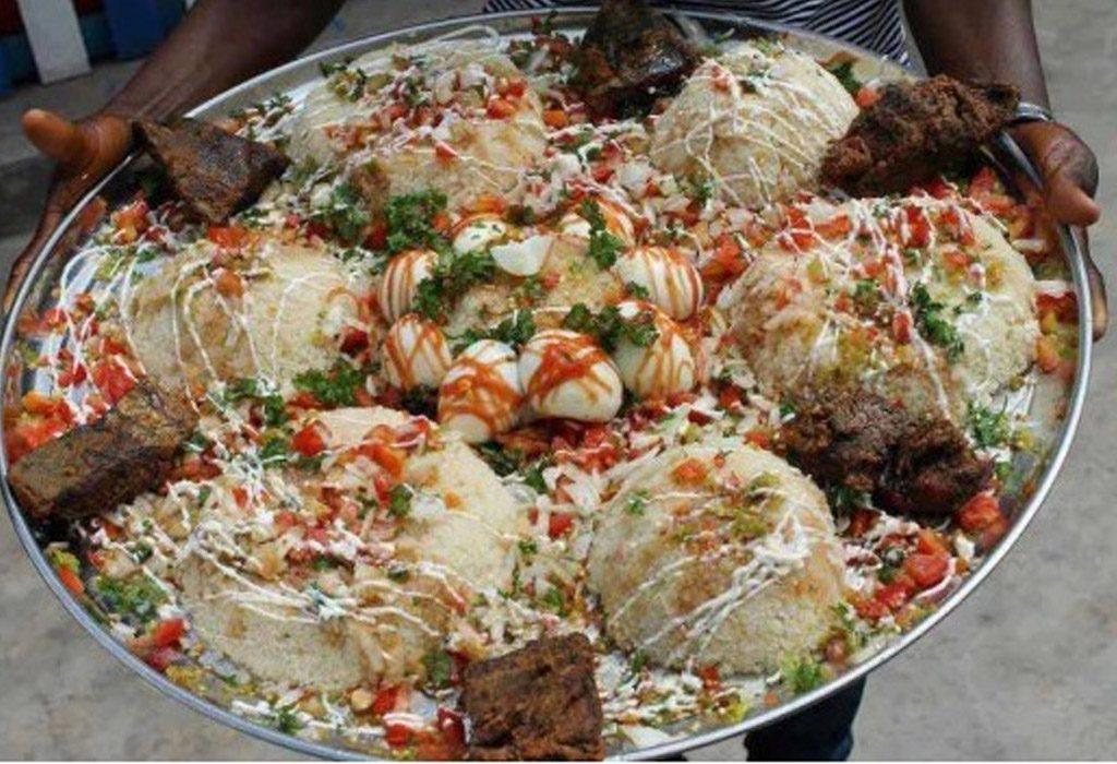 grand plat de garba