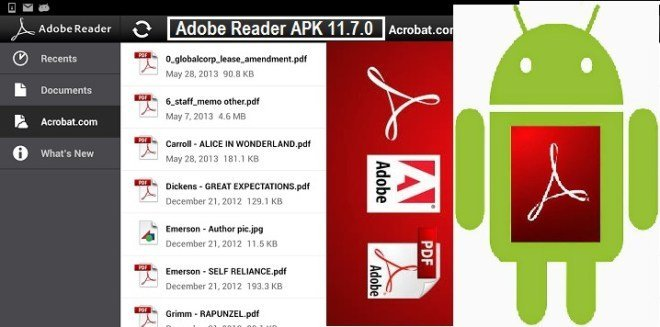 Adobe Reader APK 11.7.0 for android free download