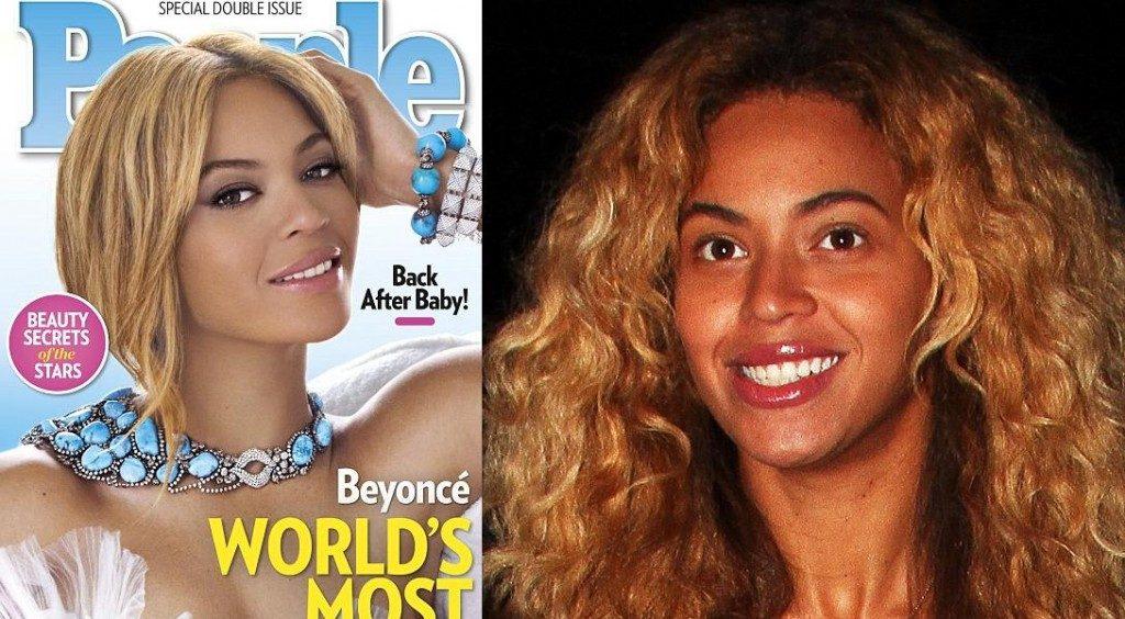 Beyonce avant après