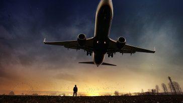 avion paysage