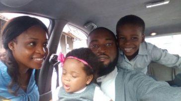 joseph blankson et sa famille en voiture