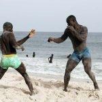lutte senegalaise plage