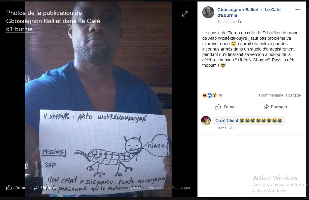 chat libérez gbagbo cousin