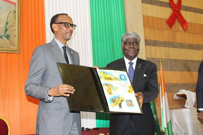 kagame citoyen d'honneur en cote d'ivoire