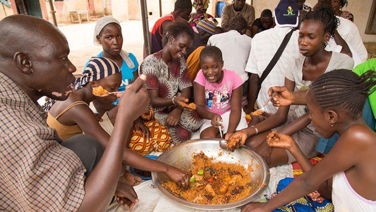 Noel afrique repas