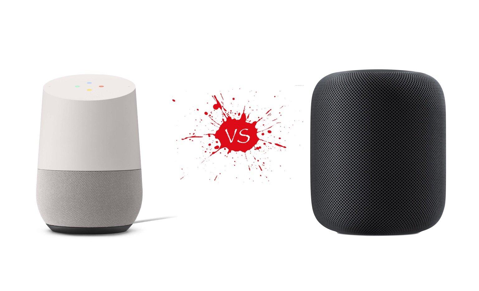 Homepod vs Google Home
