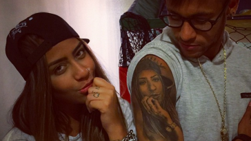 Neymar-tatouage de sa soeur