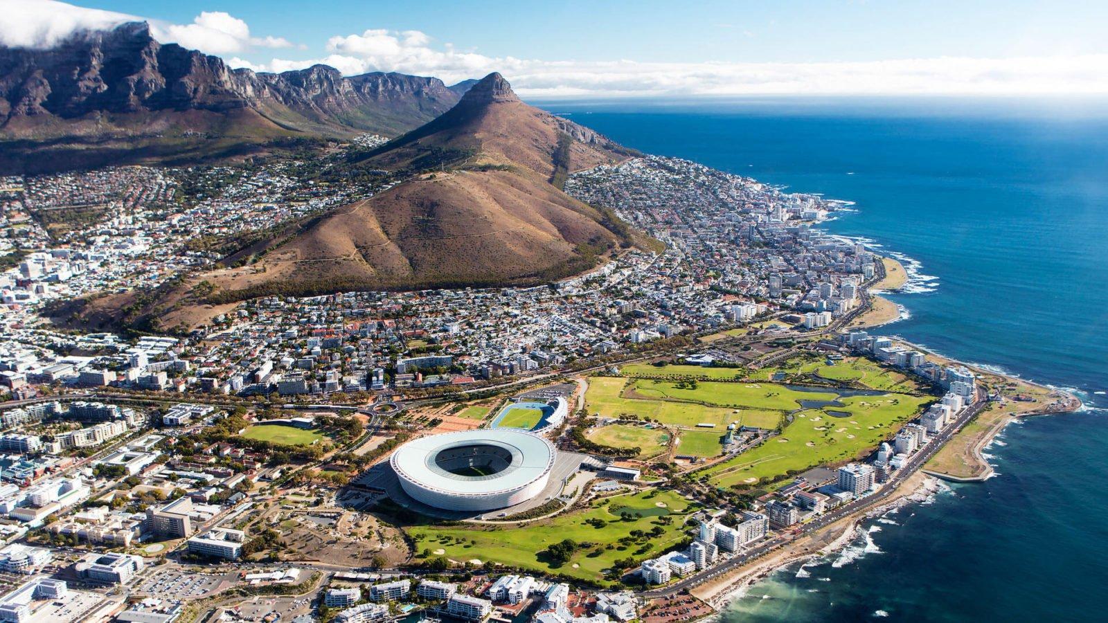 Cape Town superbe vue aérienne