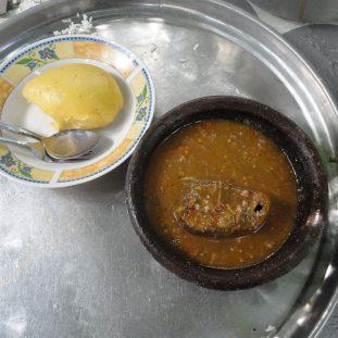 Foutou riz sauce gouagouassou