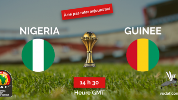 Match du jour nigeria guinee