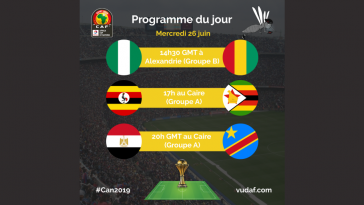 Programme CAN 26 juin
