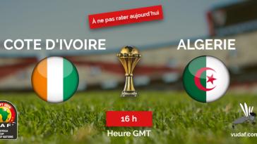 Match du jour Côte d'Ivoire Algérie