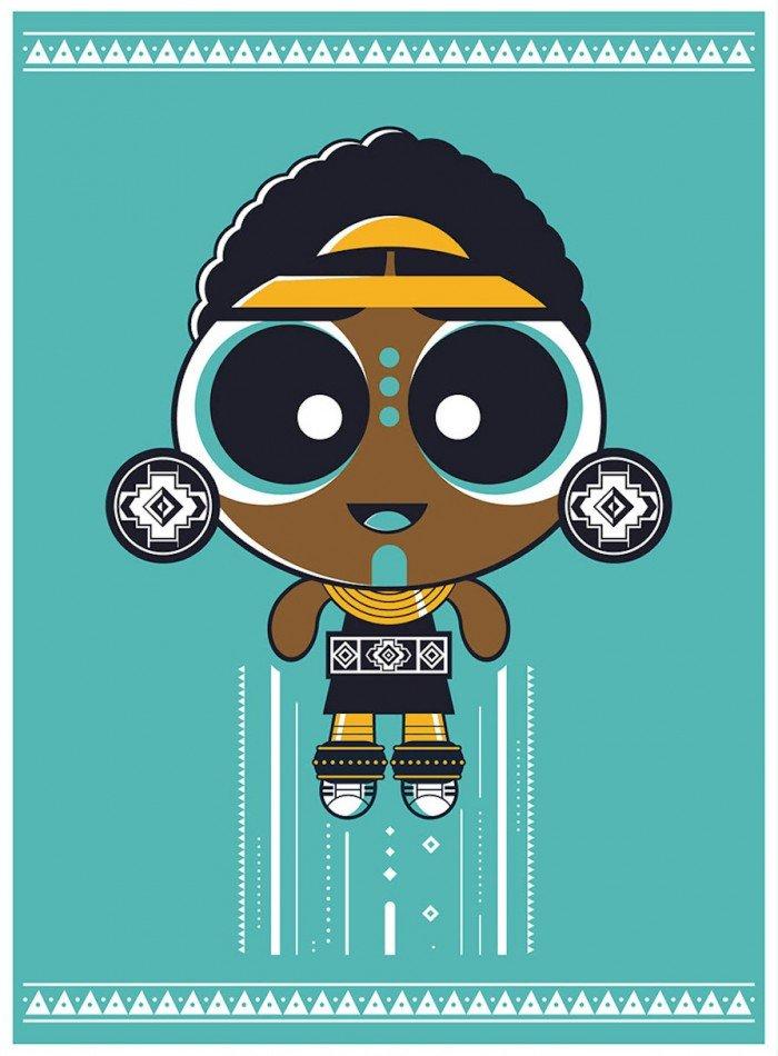 Une super-nana africanisée