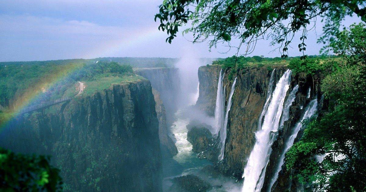 Les chutes du lac Victoria au Zimbabwé