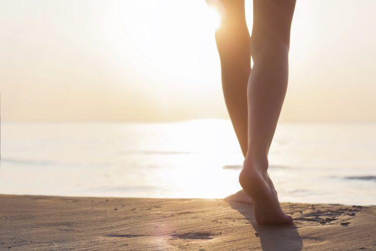 marche pieds nus