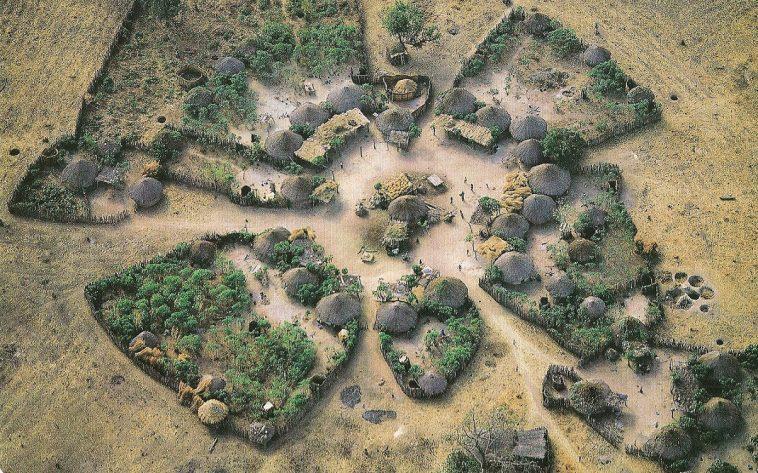village sérère croquis