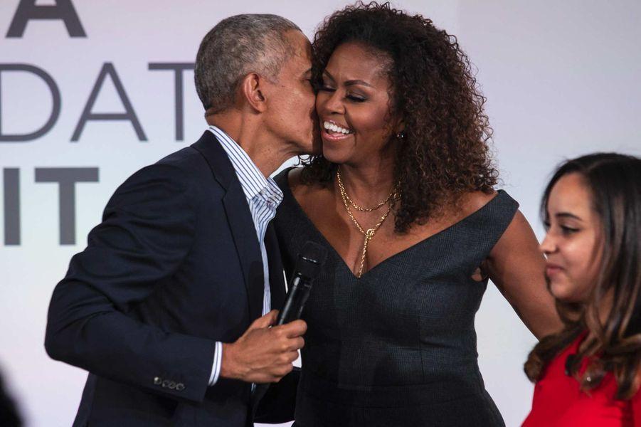 Barack à Michelle Obama