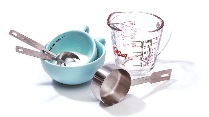 mesurer ingrédients