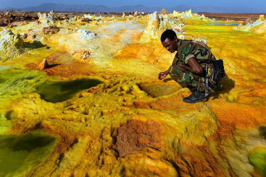 volcan Dallol dans le désert Danakil en Ethiopie