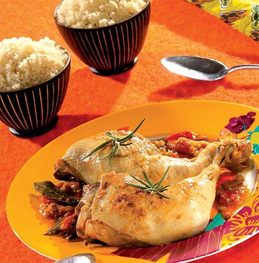 Attiéké poulet alloco