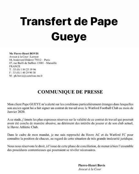 le bcontrat de Pape Gueye avec OM